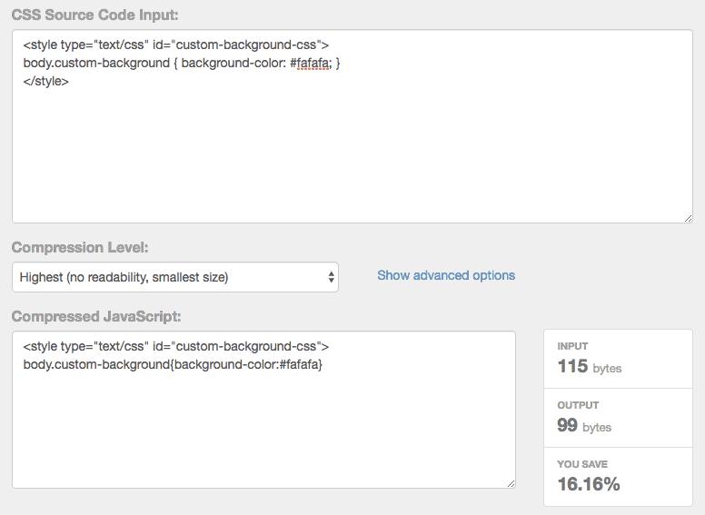 Google PageSpeed Insights Fehlermeldungen – So komprimierst du CSS händisch mit dem CSS Compressor