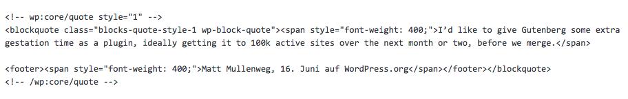 so sieht html im alten editor aus