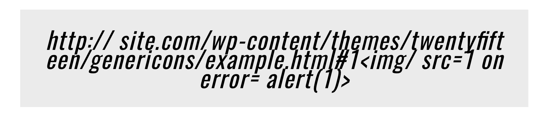 Dopo aver inserito questo URL è apparso un avviso javascript. Questa è la prova che il codice javascript inserito potrebbe essere utilizzato per manipolare la rispettiva pagina.