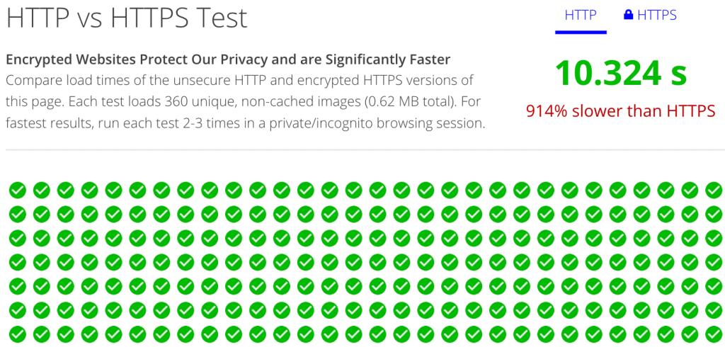In einem Vergleich zwischen HTTPS und HTTP kann HTTPS teils enorm viel schneller sein.