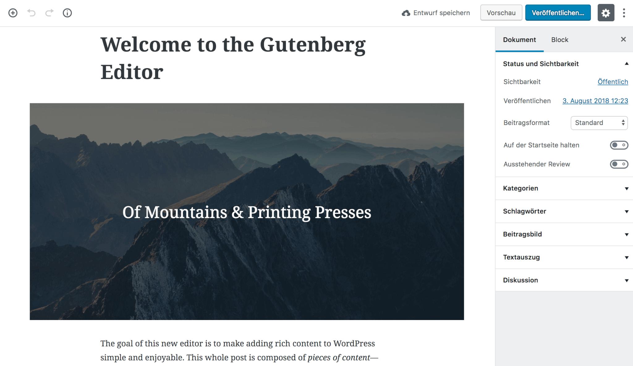Ecco come si presenta la mail di benvenuto del Gutenberg4WordPress .9.8