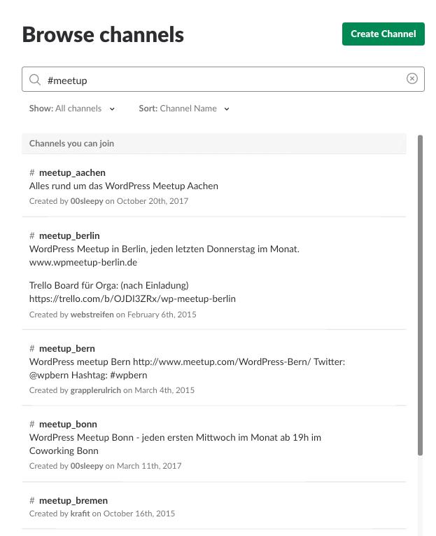 Deutsche WP-Slack-Community
