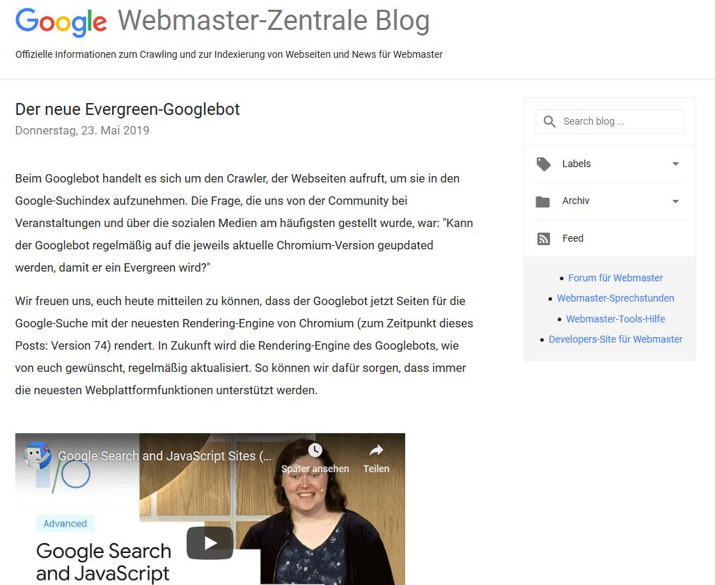 Webmaster-Zentrale Blog
