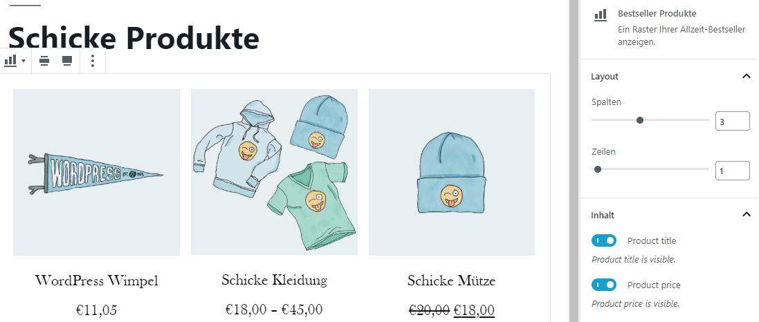Produkt Block WooCommerce
