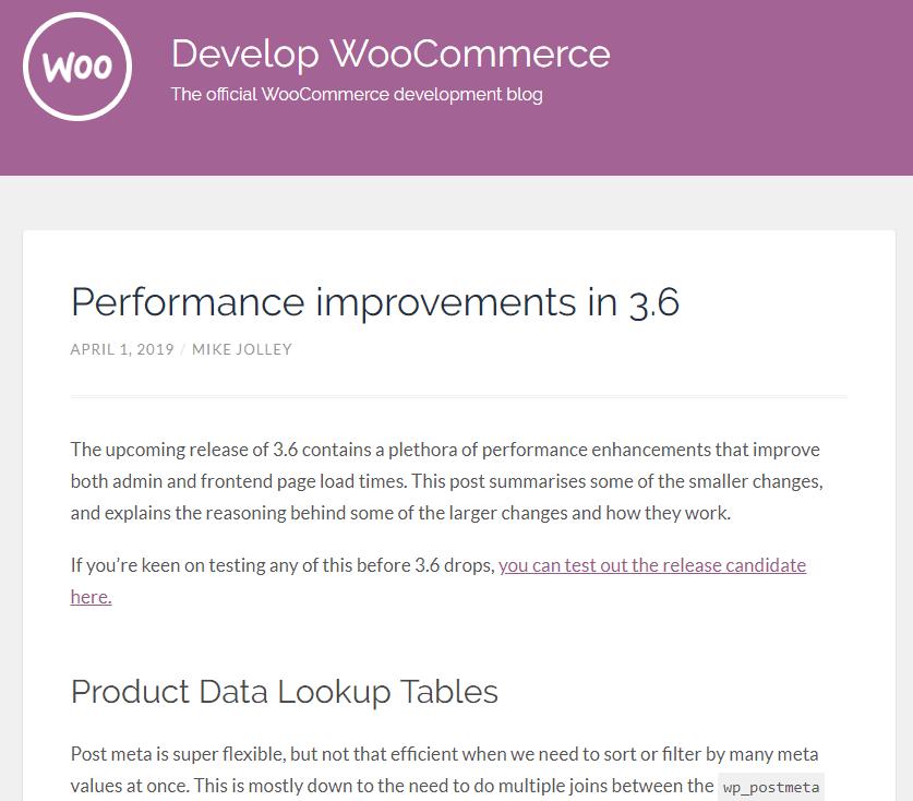 Der Entwicklerblog von WooCommerce