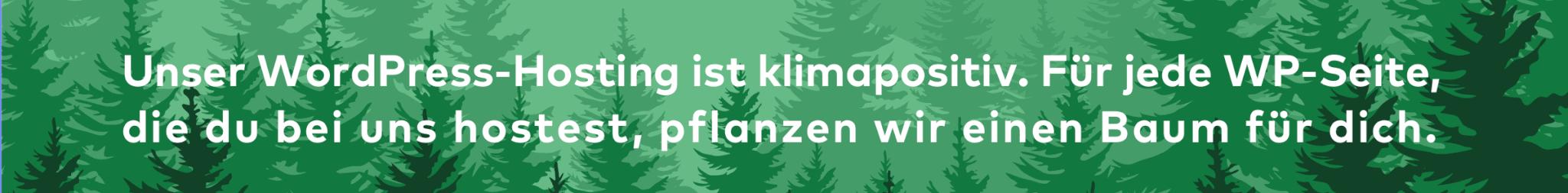 Klimapositives WordPress Hosting