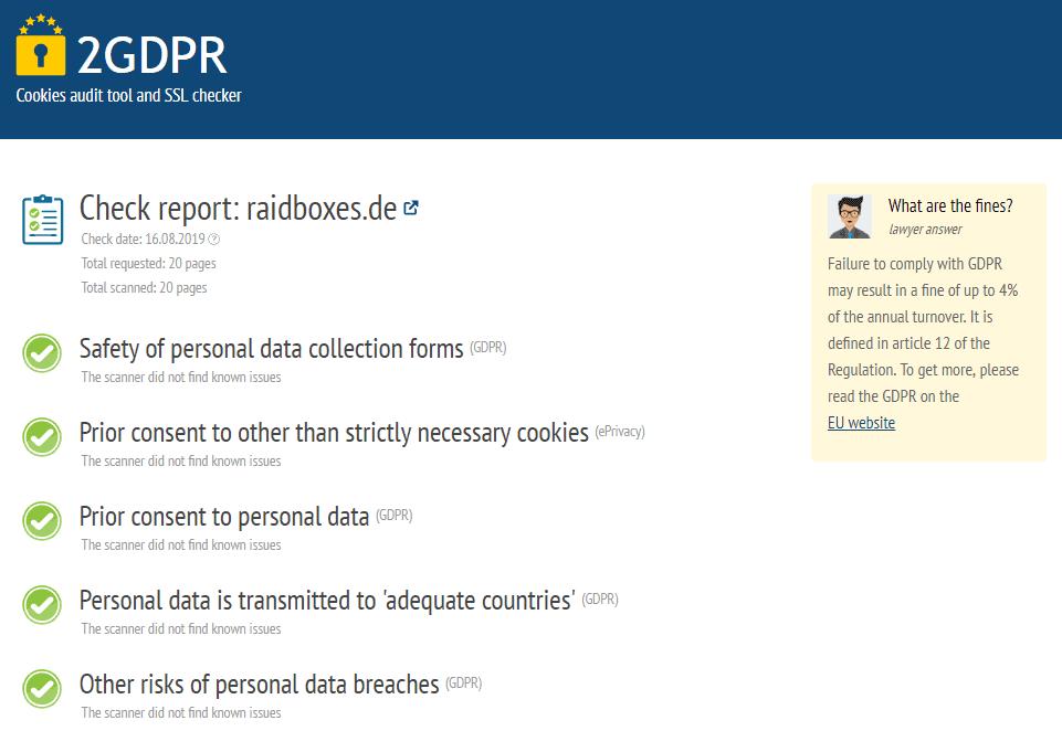 GDPR Zkontrolujte