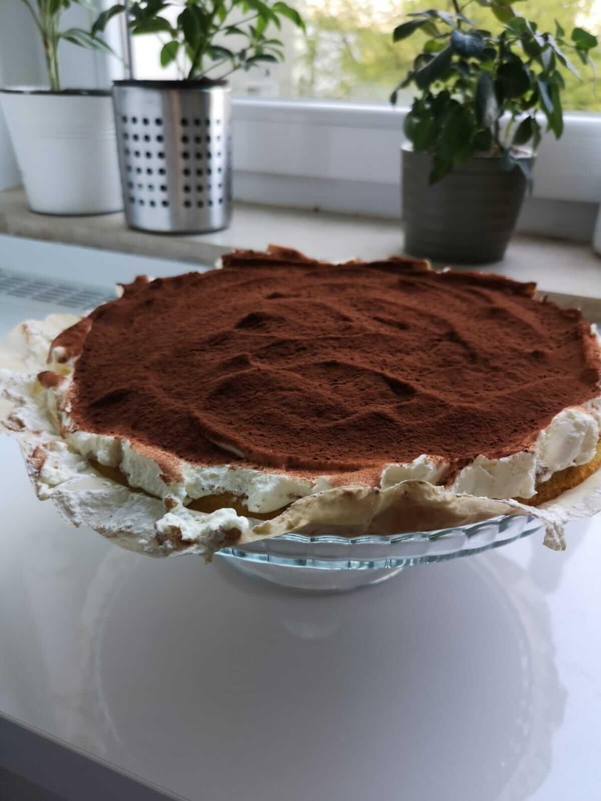 selbst gebackener Kuchen für den Kunden