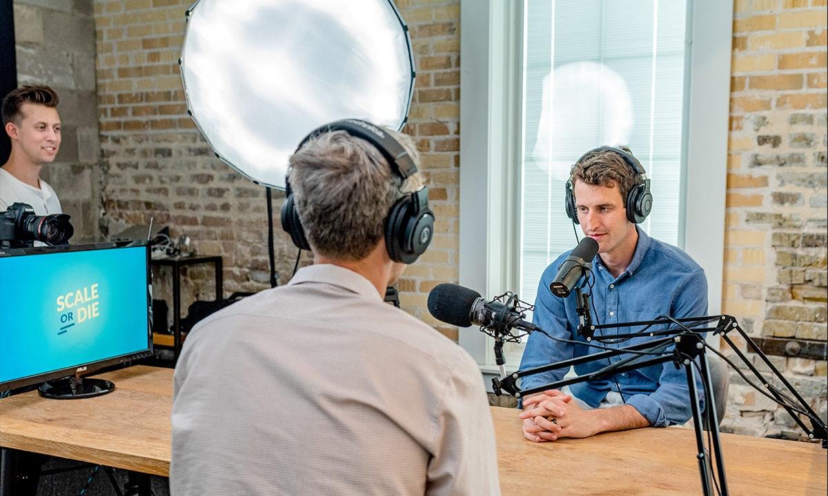 enregistrement podcaster